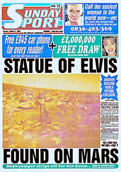 Statue of Elvis Found on Mars