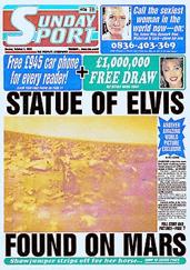 Statue of Elvis Found on Mars