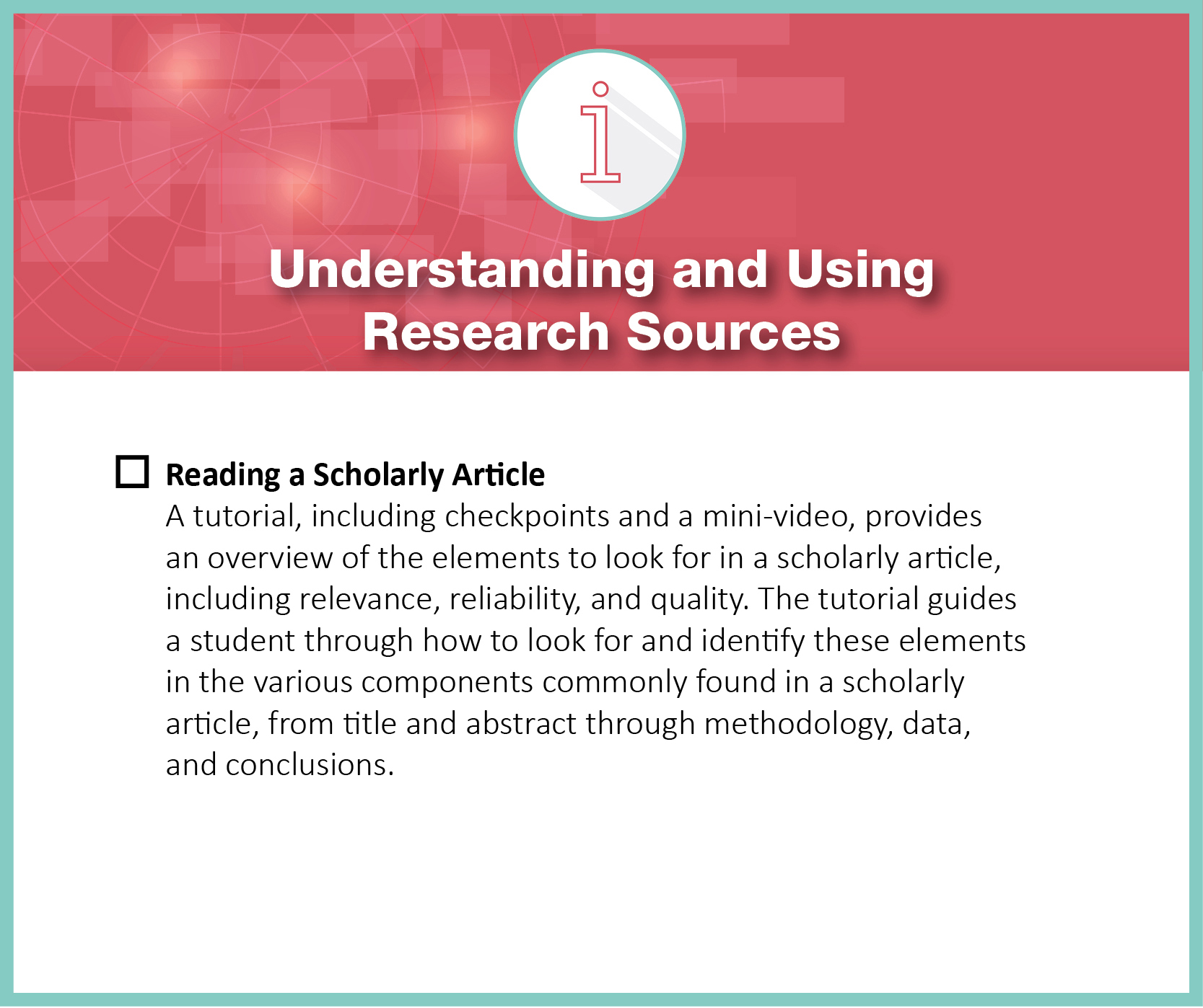 understanding and using research